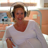 Nicky chills out with my cunningly disguised headphones, only a doctor can tell they are not real ears...