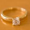 Scratch resistant diamond